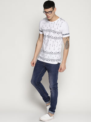 Impackt  white all over print t-shirt