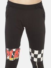 Printed Slim fit Joggers With Zipper