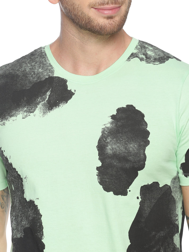 fashionable style T-Shirt ideal for men with All over Printed