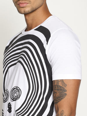 Impackt  Half Sleeve round neck T-Shirt with placement print on front panel