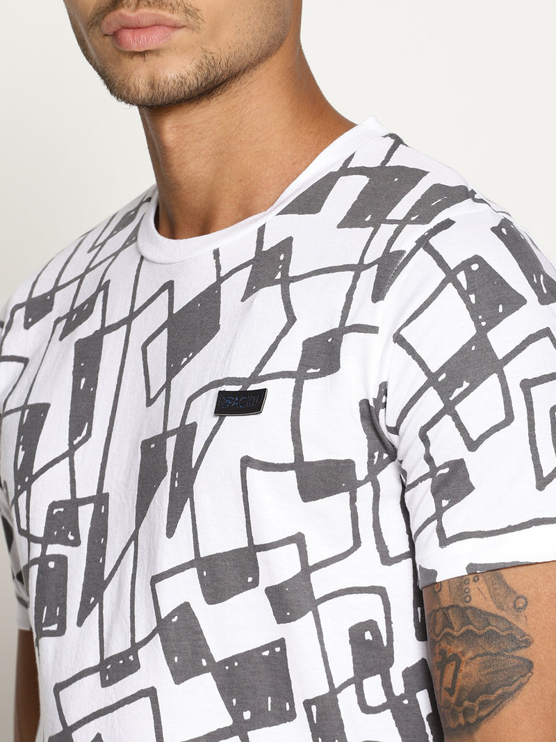 Impackt  white all over print tshirt