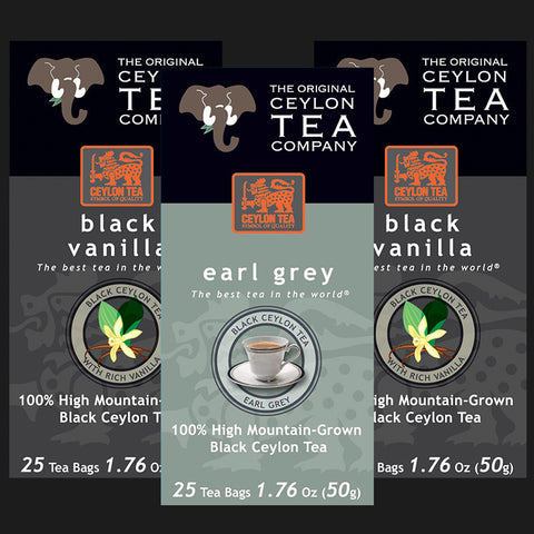 Super Mix Black Vanilla, Earl Grey, Black Vanilla Super Free Shipper