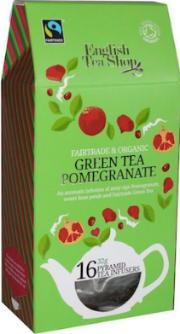 Green Tea Pomegranate Pyramid Tea Bags 16ct