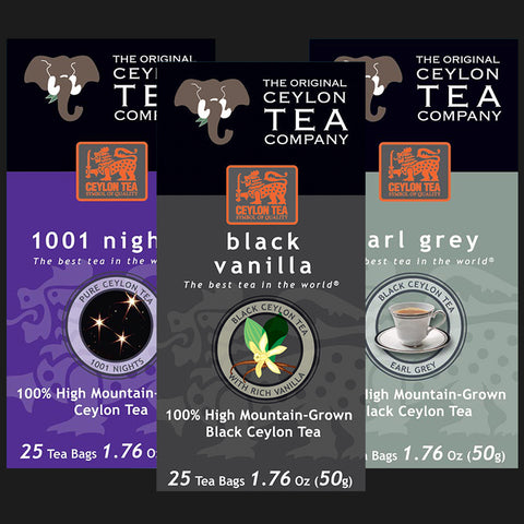Super Mix 1001 Nights, Black Vanilla, Earl Grey 75 Tea Bags Super Free Shipper