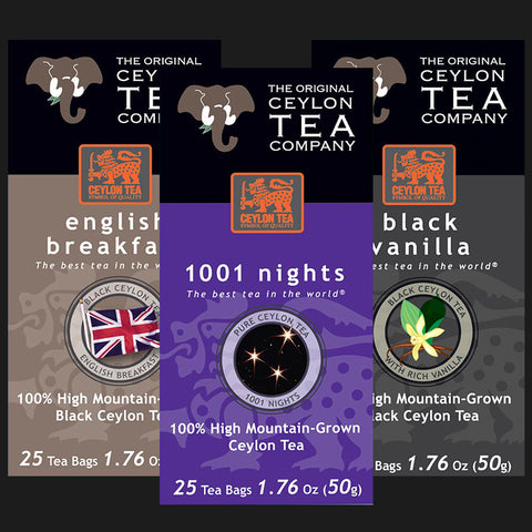 Super Mix English Breakfast / 1001 Nights / Black Vanilla Super Free Shipper