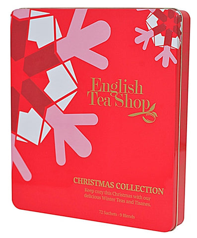 Red Christmas Tin - 72ct Collectible / Reusable Tin