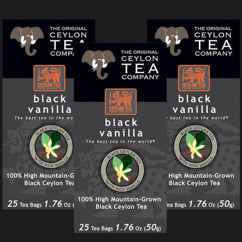 Black Vanilla  3 Packs 75 Tea Bags