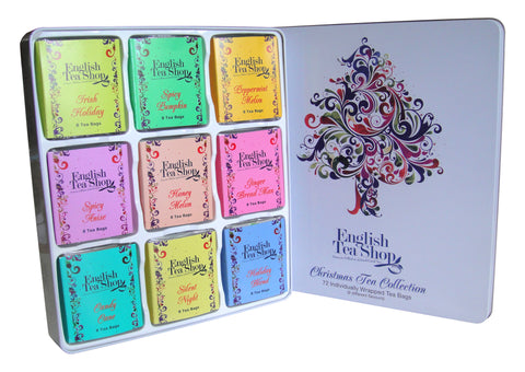 Christmas Tree Tin - 72ct (8x 9 varieties of teas)