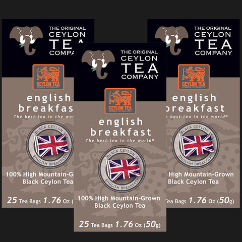 English Breakfast 3 cartons 75 Tea Bags