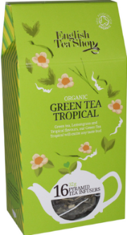 (16 CT) Green Tea Tropical Silken Infuser Cathedral Pack