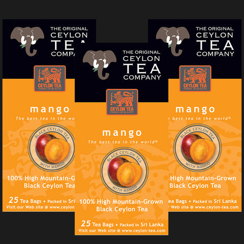 Tea with natural flavor of Mango 3 cartons