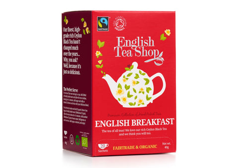 ORGANIC English Breakfast 20ct Sachet Tea Bags