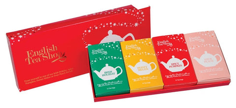 Red Holiday Tray - 60ct Sachet tea bags
