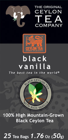 Black Vanilla 25 Tea Bags - Stock Clearance Sale