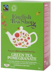 (20ct Sachet) Green Tea Pomegranate Tea