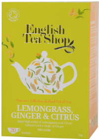 Lemongrass, Ginger, and Citrus Tea (20ct Sachet)