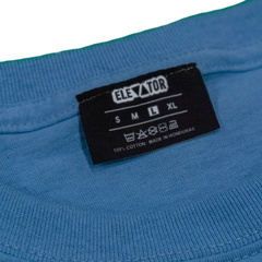 ELEVATOR Embroidered Blue Tee