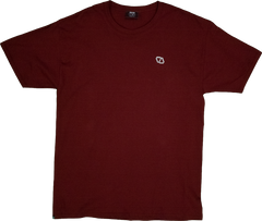 ELEVATOR Embroidered Maroon Tee