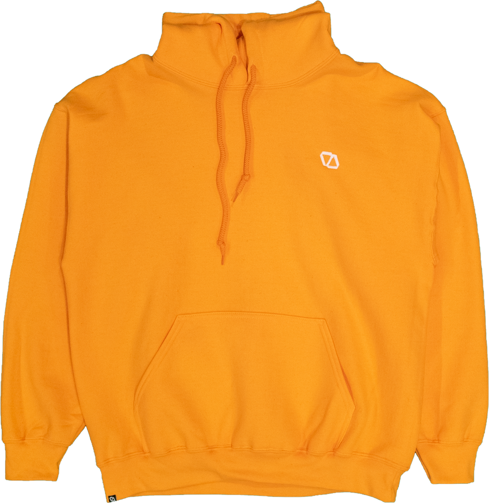 ELEVATOR Embroidered Orange Hoodie