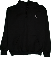 ELEVATOR Embroidered Black Hoodie