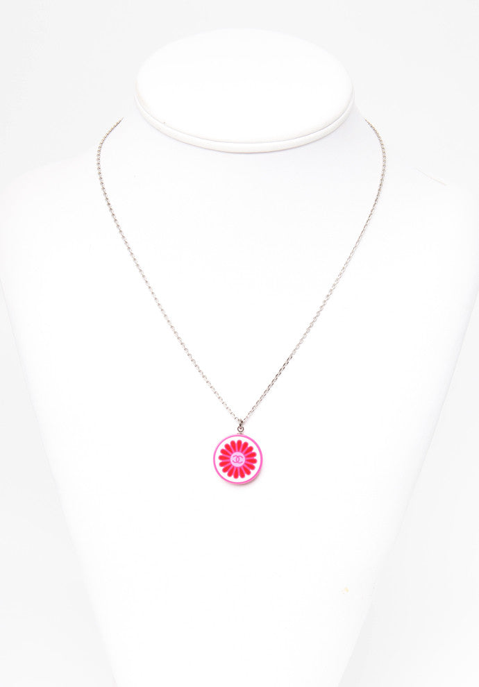 Pink Chanel Flower Necklace