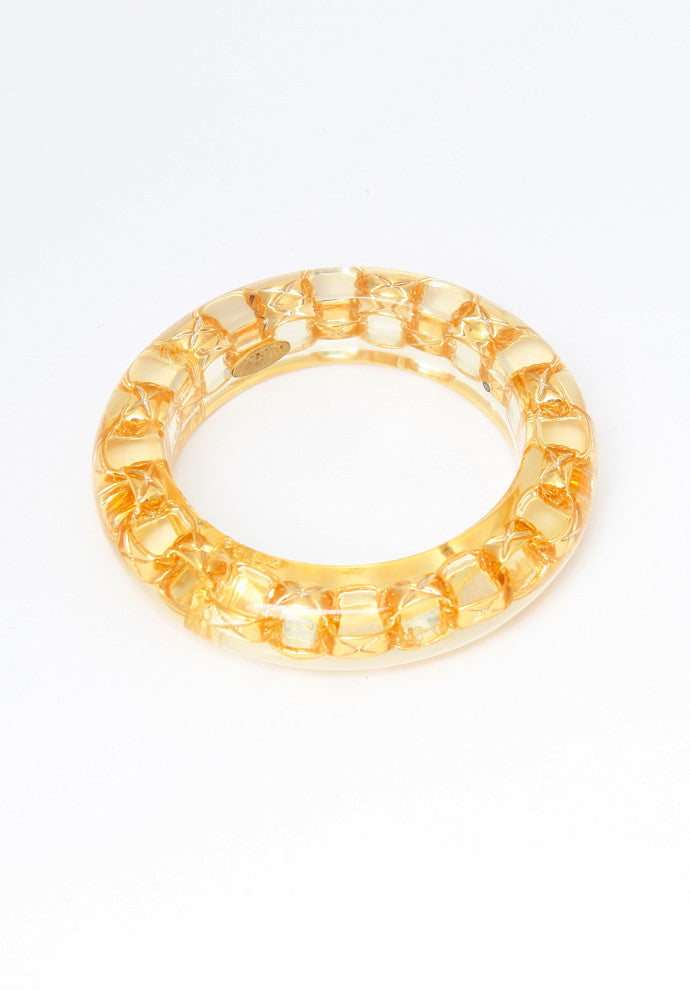 Vintage Chanel Lucite Chain Bangle Bracelet