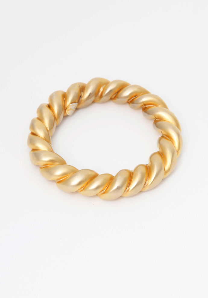 Vintage Chanel Braided Bracelet Gold