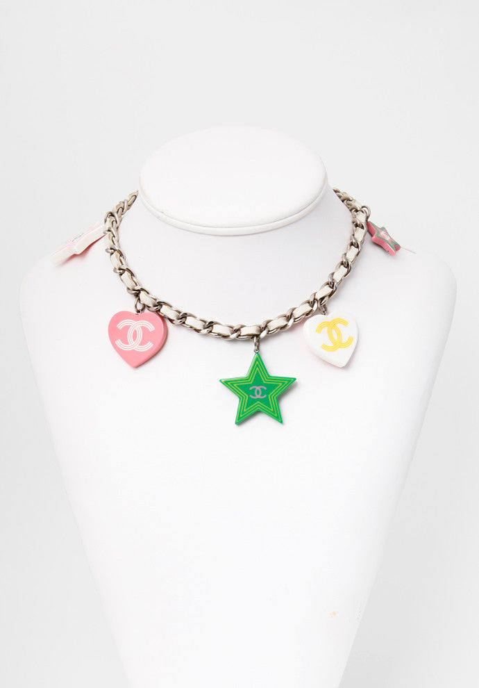 Chanel Multi-Charm Choker Necklace or Double Wrap Bracelet
