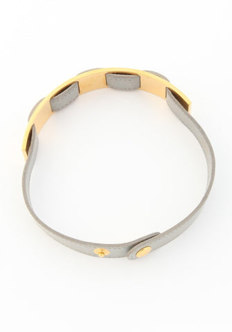 Hermes Gray and Gold Choker