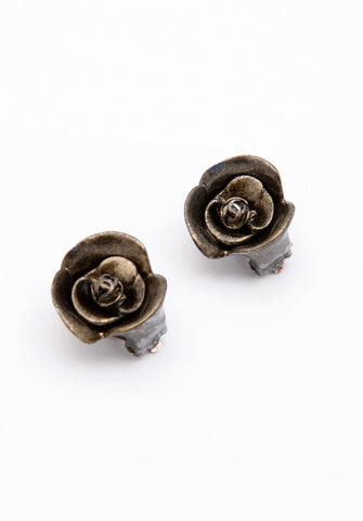 Chanel Camelia Flower Earrings