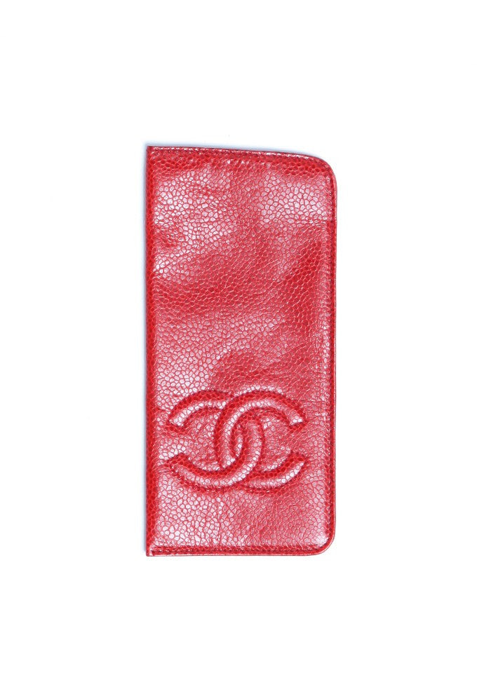 Chanel Red Caviar Sunglasses Glasses Case