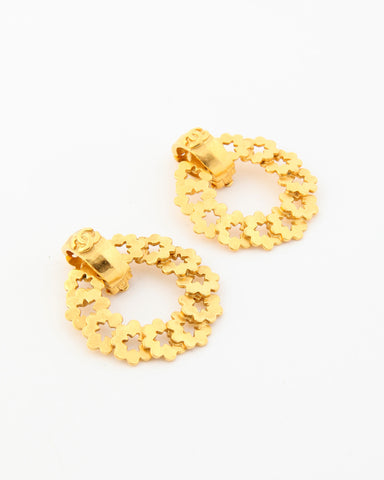 Vintage Chanel Wreath Earrings
