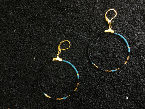 Ayana-Turquoise/Gold/Black