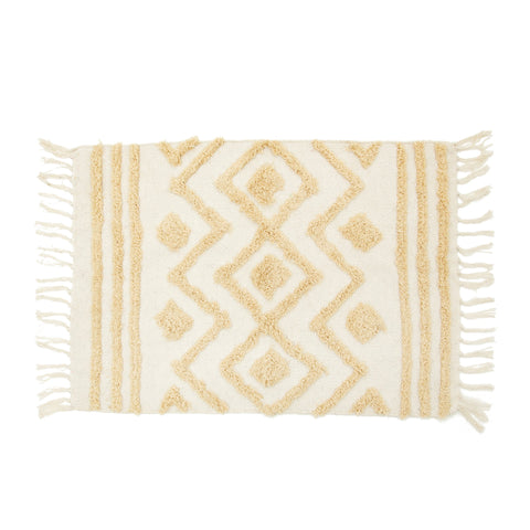 Cream tufted zigzag rug