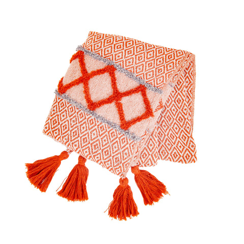 Burnt Orange Blanket Throw