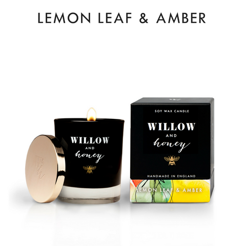 220g Lemon Leaf & Amber Candle