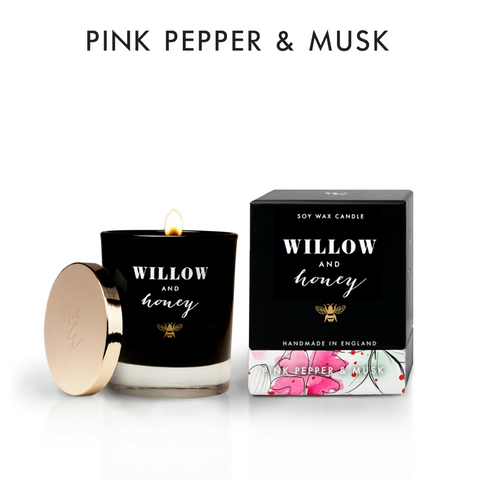 220g Pink Pepper & Musk Candle