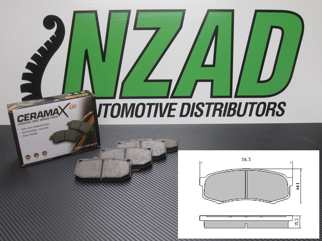 Ceramic Disc Brake Pads Rear Toyota Landcruiser