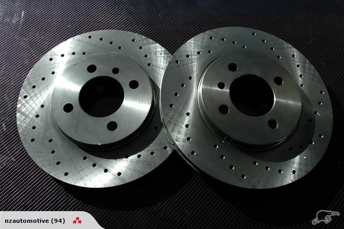 BMW E30 zimmermann crossdrilled brake rotors