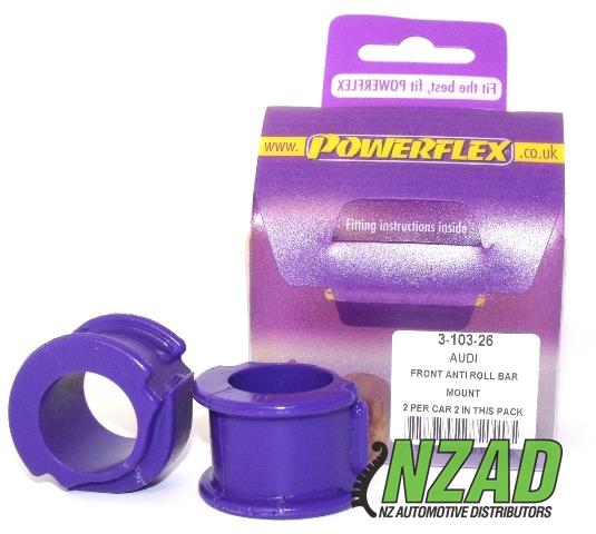 Powerflex Audi 80, 90 Quattro inc Avant (1992-1996), S2 inc Avant B4, RS2 B4 (1994-1996) Front Anti Roll Bar Mount 26mm