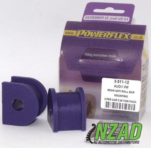 Powerflex Audi 80, 90 Quattro inc Avant (1992-1996), S2 inc Avant B4, RS2 B4 (1994-1996) Rear Anti Roll Bar Mount 12mm