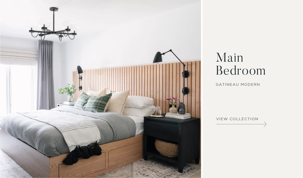 Shop the Gatineau Modern Project Main Bedroom