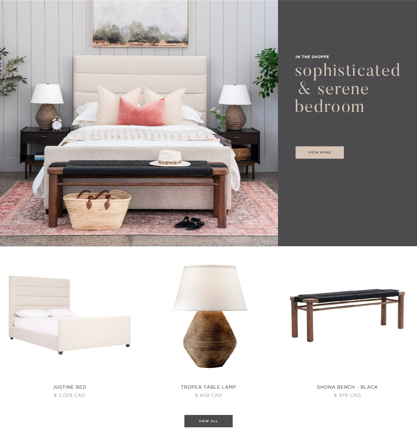 "Shop the ""Sophisticated & Serene Bedroom"""