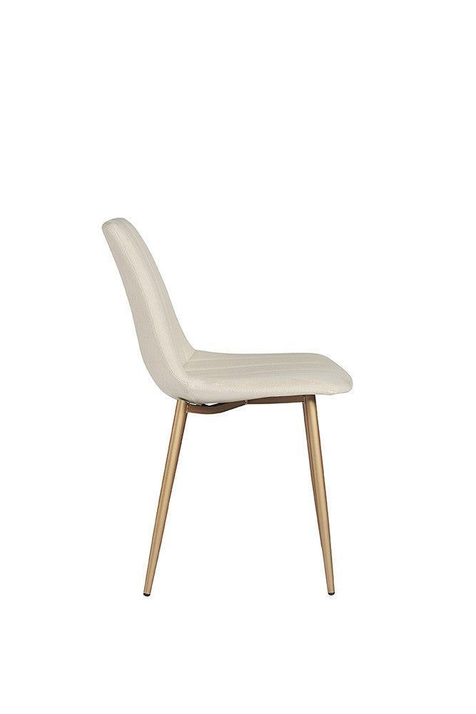 Angelo Dining Chair - Gold / Linen