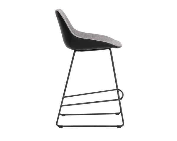 Yoco Counter Stool - Grey/Black