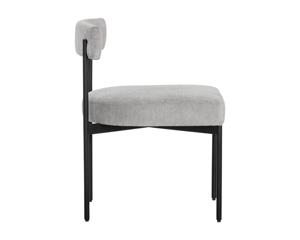 Ensley Dining Chair - Black/Stone