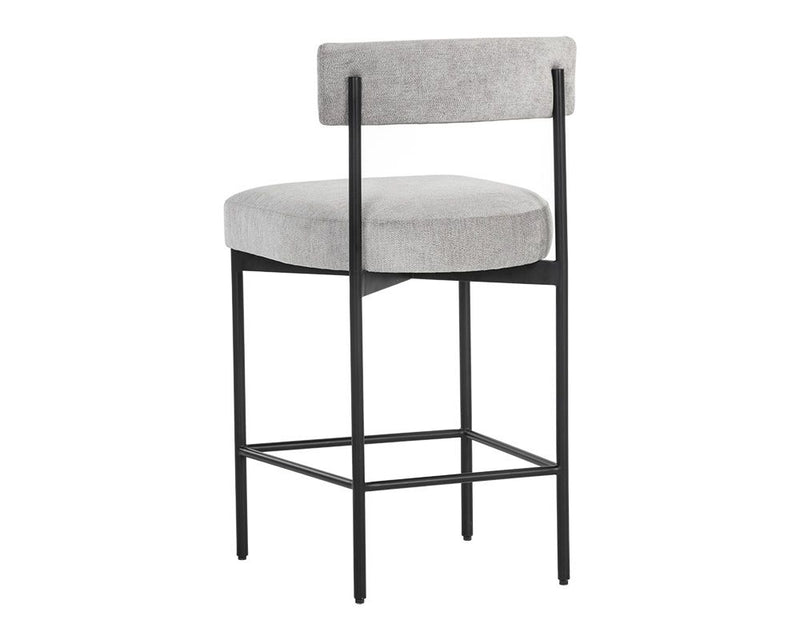 Ensley Counter Stool - Black/Stone