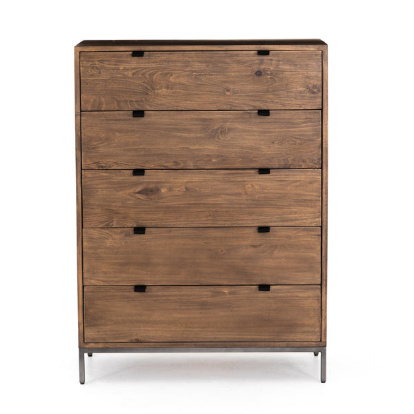 Banks 5 Drawer Dresser - Auburn
