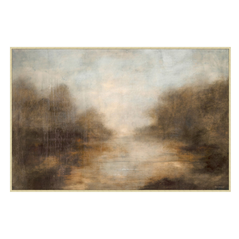By The Creek Framed Canvas - Floor Model