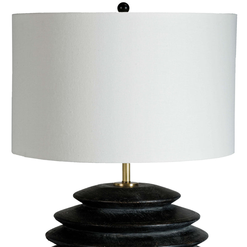 Kaylie Round Table Lamp Ebony